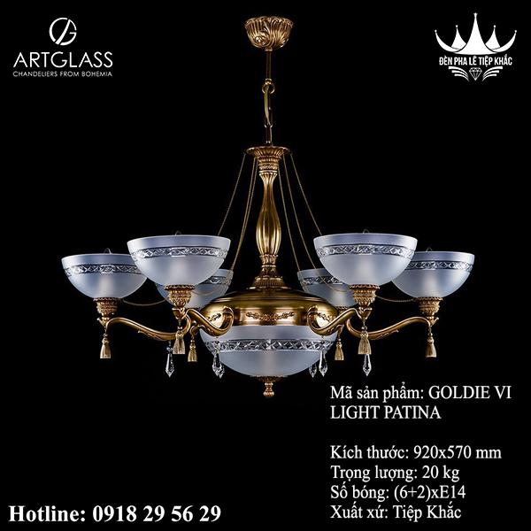 Đèn Chùm Đồng GOLDIE VI Light Patina