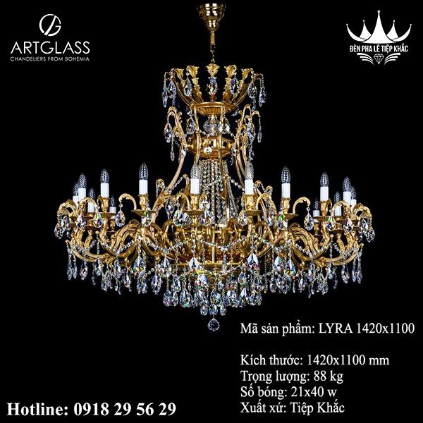Đèn Chùm Đồng LYRA 1420x1100
