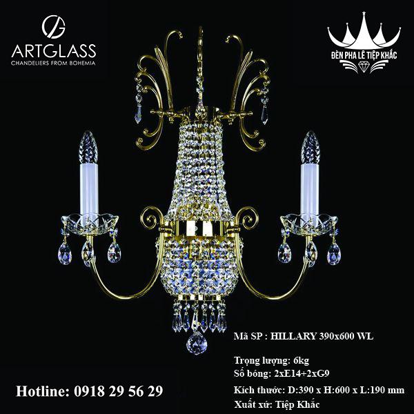 Đèn đồng ốp tường HILLARY 390x600 WL