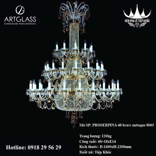 Đèn thả thông tầng PROSERPINA 48 brass antique 8003