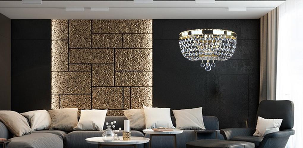 Đèn tường pha lê mang lại không gian ấm áp cho ngôi nhà