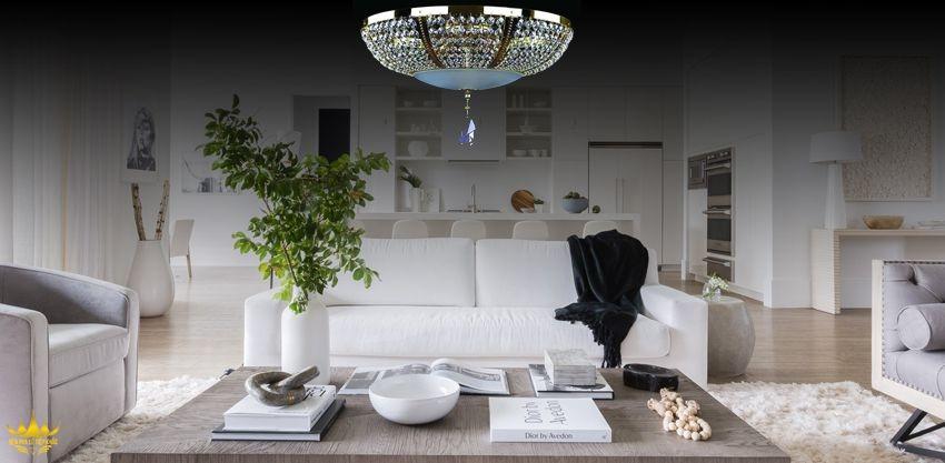 Đèn chùm ốp trần và những ứng dụng hữu ích cho không gian